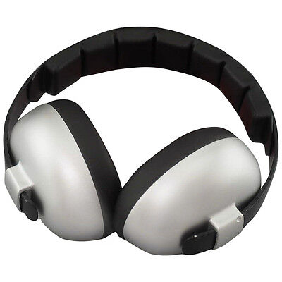 NEW Baby Banz Silver Mini Earmuffs Soft Cup Ear muffs Kids Babies Infant Protect