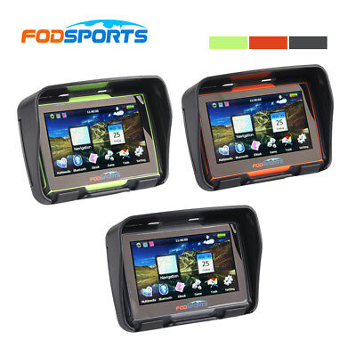 "NEW 4.3"" Inch Waterproof GPS 8GB 256M Bluetooth FM Motorcycle & Car Latest Maps"