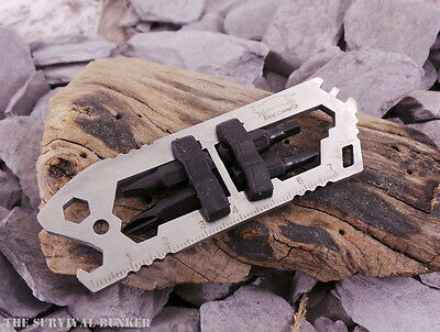 Edc Stainless Steel Pocket  Multi Tool Bushcraft Survival Camping Cycling