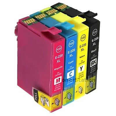 5x Generic 220XL Ink Cartridges For Expression Home XP-320 XP-420 Printer
