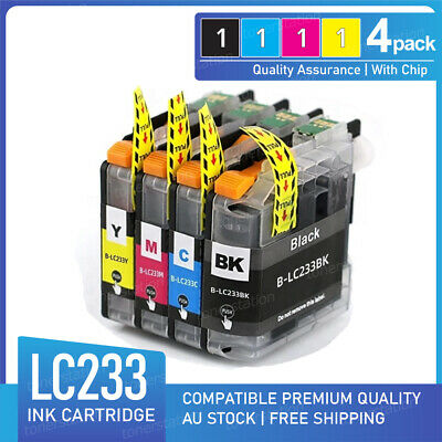 4 Ink Cartridge for Brother LC-233 DCP-J4120DW MFC-J4620DW MFC-J5320DW MFC-J5720