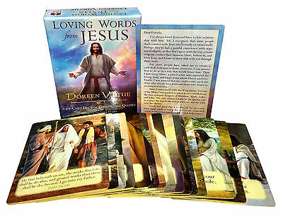 Loving Words from Jesus Tarot Cards Deck Comforting Quotes Doreen Virtue Prayer