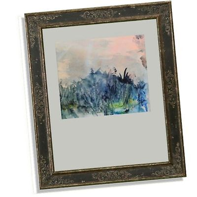 Retro Abstract Watercolour Painting Primeval Turbulence Unframed Signed Martin