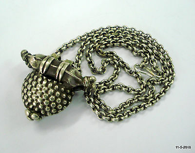 vintage antique silver necklace chain pendant tribal old silver jewellery