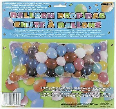 Balloon Drop Bag Kit Release Party Birthday Decoration Supplies 80x36in