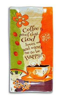 Coffee Is Proof God Loves Me Spoon Rest Inspirational Country Kitchen Home Decor