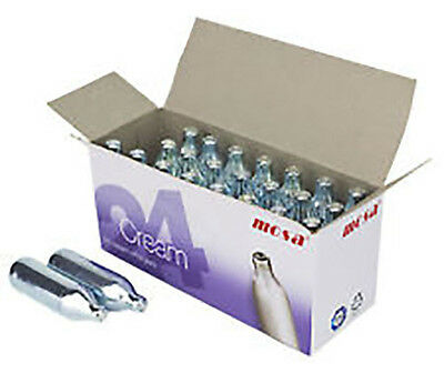 100 x MOSA CREAM CHARGERS. Quality N2O. Silver. Steel. Traditional