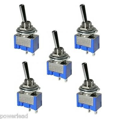 5 x On Off Mini Toggle Switch SPST Miniature for Model Railway