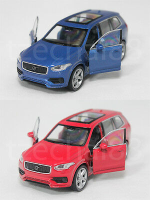 Welly 1:34-1:39 Die Cast 2015 Volvo XC 90 Car Blue / Red Color Model Collection