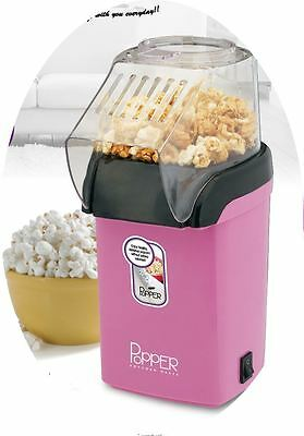 TheBigShip 1200Watt Electric Hot Air Popcorn Maker Poppers - Pink/White (Pink)