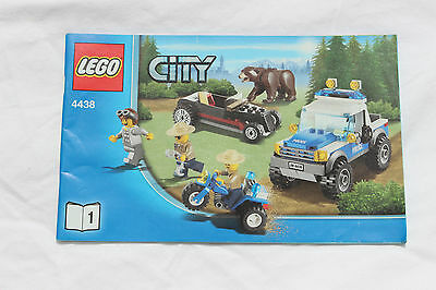 Lego City 4438 City The Grizzly Brown Bear Booklet 1 INSTRUCTIONS ONLY NO BRICKS