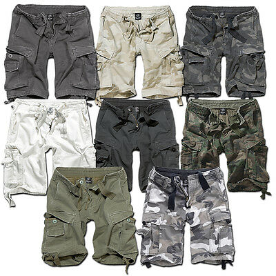 Brandit Vintage Classic Shorts Military Army Cargo Combat Knee Length