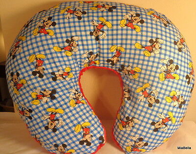 NEW Mickey Mouse and Minky Boppy Cover    Mickey Mouse Nursing Pillow Cver