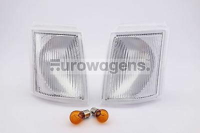 Ford Transit 92-00 Clear Front Indicators Repeaters Pair Left Right With Bulbs
