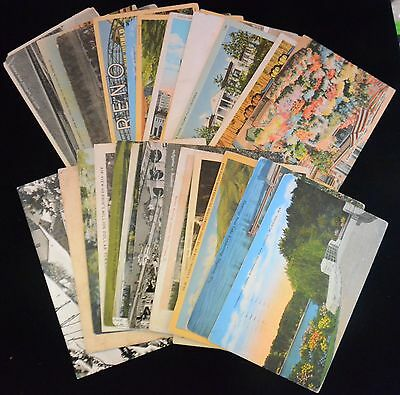 Antique & Vintage Lot of 25 Various Circulated POSTCARDS Early-Mid 1900s (#9)