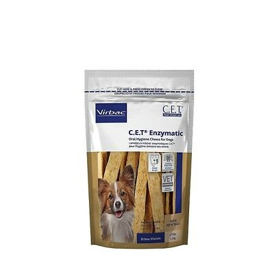 CET  Enzymatic Oral Hygiene Chews for Petite Dogs Under 11 Pounds 90 Ct