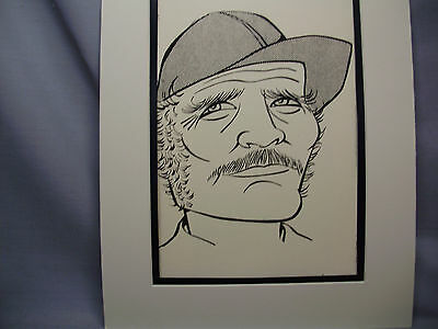 Robert Shaw JAWS Caricature Drawing from Studio 54 New York Famous Faces art