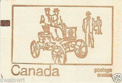 Canada 1971 Centennial Booklet UNI #BK69f - Cover with Counting Mark - CV $6.25