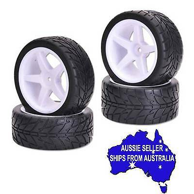 V Rage on road wheels/tyres with 12mm hex for 1:10 Rc buggy eg Tamiya TT02B DF01