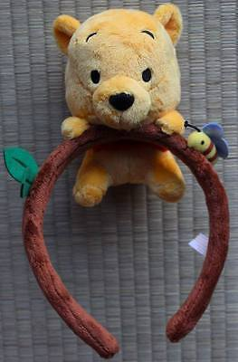 TOKYO DISNEY RESORT POOH and Bee small plush on the HEAD ACCESSORIES for adult