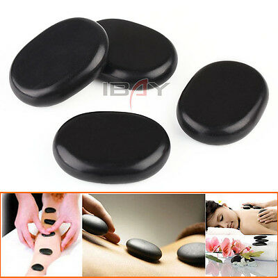 4pcs (8*6*2CM)set Large Size Hot Stone Massage basalt Rocks stones Black