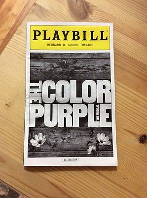 The Color Purple Musical Nyc 2016 Playbill New York City White Boarder Rare