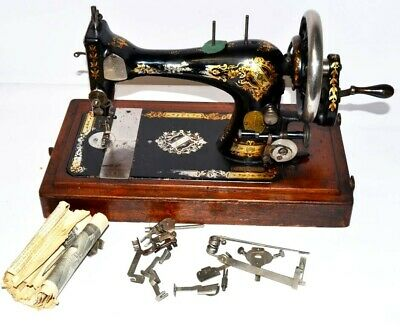 Antique Singer 28K Hand Crank Sewing Machine c1896 - FREE Shipping [2166]