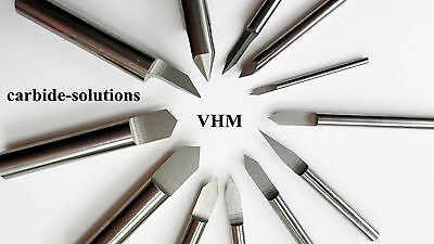 VHM Gravierstichel Ø 4,0 x30°/40°/60° Stichel engraving end mill bits CNC tools