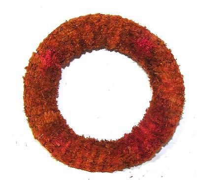 """Vtg 4 5/8"""" Miniature 1940's Chenille Xmas Wreath, Crafts, For You To Decorate!"""