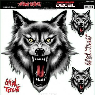 Lethal Threat Wolf Fang Large Decals*