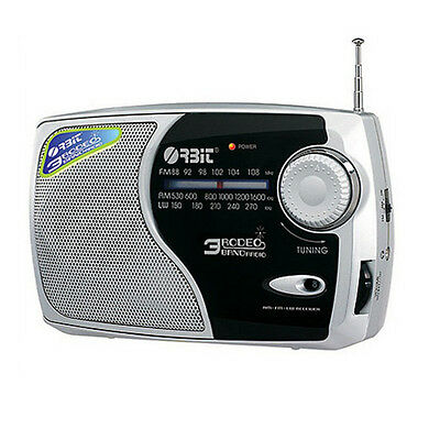 Orbit Rodeo 3 Band Am/Fm/Lw Portable Radio Ac/Dc