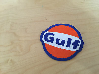 gulf  iron on patch, nos,1980's,set of 2