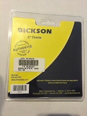 DICKSON Circular Chart,6 In,0 to 500,7 Day,Pk60 Item # 1LXL3 Mfr. Model # C653