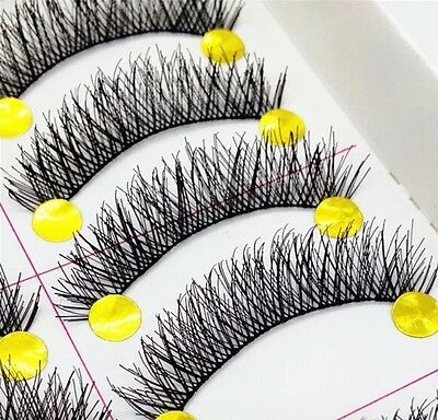 10 Pairs Quality Thick Handmade Natrual Makeup Fake False Eyelashes Eye Lashes