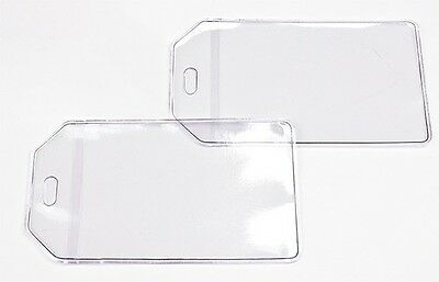 10-Pack Clear Luggage Tags and Loops To Make Your Own Personalized Luggage Tags