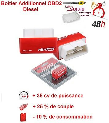 BOITIER ADDITIONNEL CHIP BOX PUCE OBD2 DIESEL PEUGEOT 308 1,6 HDi 110/112 CV
