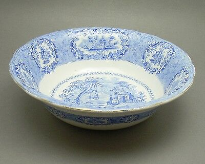 Antique Ridgways Pottery Oriental Blue Vegetable Bowl Staffordshire England