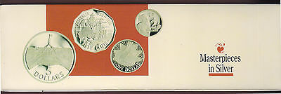 1988 Masterpieces in Silver Proof Set of 4 Coins