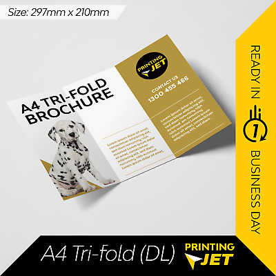 A4 Tri fold Leaflet printing or takeaway menu (Qty: 250 / 500 / 1000 pcs)