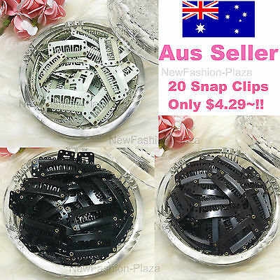 20 Snap Clips (Brand New)  For Hair Extension/weft 32Mm