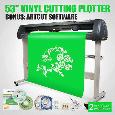 "New 53"" 1350mm Cutter Vinyl Cutting Plotter W/ Stand Machine Artcut Software"