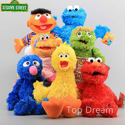 Living Hand Puppets Elmo Cookie Monster Zoe Erine Grover Oscar Sesame Street Toy