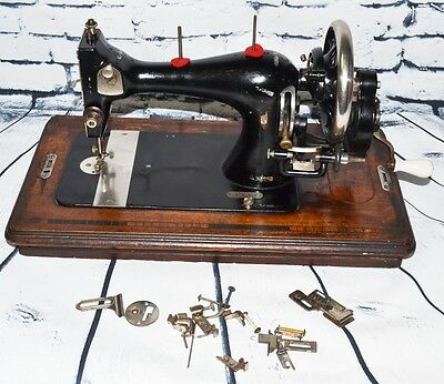 Rare Stoewer VS Victorian Decal #806333 Hand Crank Sewing Machine [PL2153]
