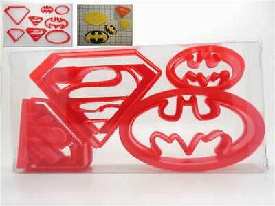 Super Hero Set of 4 Superman / Batman Shaped Biscuit, Pastry, Cookie Cutter