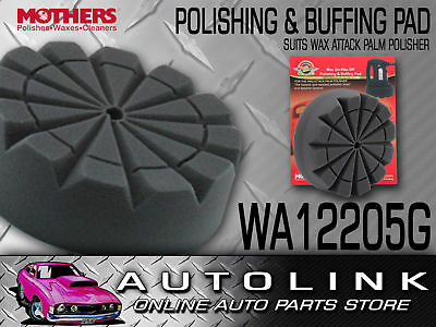 WAX ATTACK REPLACEMENT POLISHING BUFFING PAD PALM & PORTABLE POLISHER x2