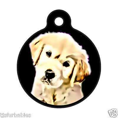 Golden Retriever Puppy-Personalized Pet ID Tag for Dog & Cat Collars & Harnesses