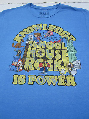 SCHOOLHOUSE ROCK knowledge is power LARGE T-SHIRT