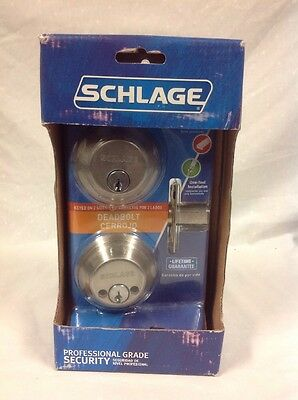 Schlage B362N V 619 Satin Nickel Double Cylinder Deadbolt