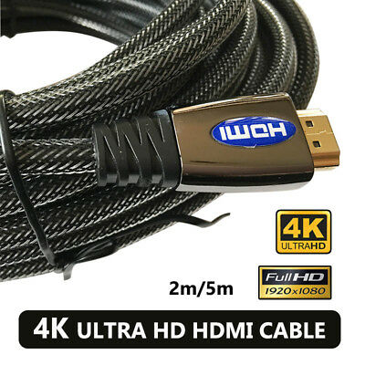 4K Ultra HD Premium HDMI Cable Gold Plated V2.0 3D High Speed Ethernet AU SHIP