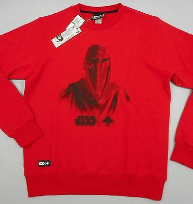 LRG LIFTED RESEARCH GROUP STAR WARS Men's Red LS Graphic Sweatshirt Shirt (L)